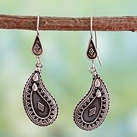 Sterling silver dangle earrings, Dance
