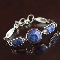 Sodalite pendant bracelet,