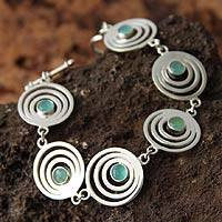 Opal link bracelet, 'Echo' (Peru)