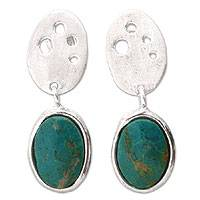 Chrysocolla earrings,