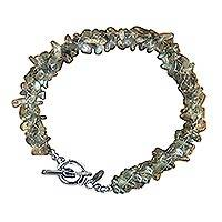 Labradorite beaded bracelet, 'Mysteries' (large) - Labradorite Beaded Bracelet (Large)