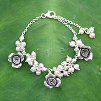 Pearl floral bracelet,