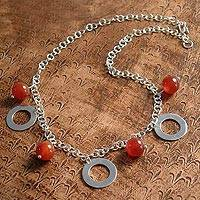 Carnelian pendant necklace, 'Eloquent' - Carnelian pendant necklace