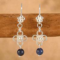 Sodalite chandelier earrings,