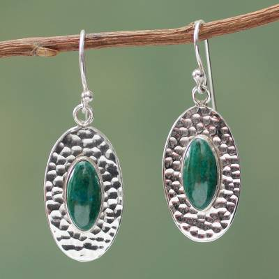 Chrysocolla dangle earrings, Unconditional