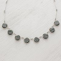 Jade link necklace,