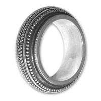 Sterling silver band ring, 'Chic and Groovy' - Sterling Silver Band Ring from Indonesia