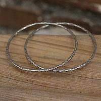 Silver bangle bracelets,
