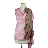 Wool Jamawar shawl,