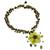 Tiger's eye and unakite choker, 'Yellow Bloom' - Handcrafted Unakite Quartz and Tiger's Eye Choker (image 2b) thumbail