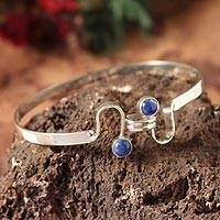 Lapis lazuli bangle bracelet,