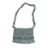 Soda pop-top shoulder bag, 'Trendsetter' - Soda pop-top shoulder bag