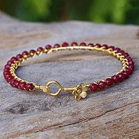 Gold plated quartz bangle bracelet,