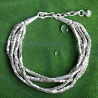 Silver torsade bracelet,
