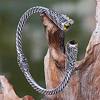 Citrine cuff bracelet,