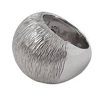 Sterling silver dome ring, 'Lava' - Substantial Artisan Crafted Modern Mexican Silver Dome Ring
