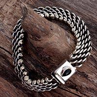 Onyx wristband bracelet,