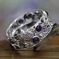 Amethyst flower bracelet,