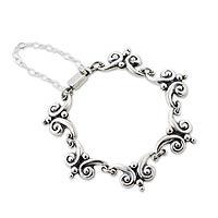 Silver link bracelet,