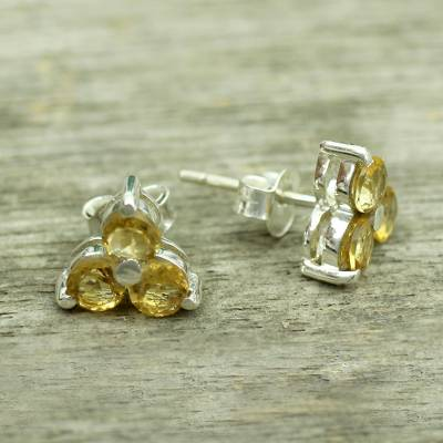Citrine stud earrings, Chennai Stars