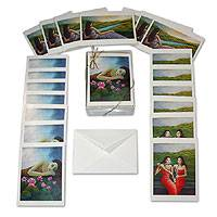 'Balinese Dreams' box of 20 blank greeting cards
