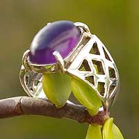 Amethyst ring, 'My Queen' - Amethyst ring