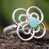 Opal flower ring, 'Andes Daisy' - Opal flower ring