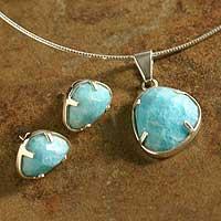 Amazonite jewelry set,