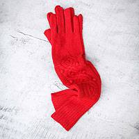 100% alpaca wool gloves,