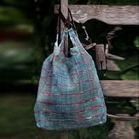 Cotton tote handbag, 'Chic Shopper' (Thailand)