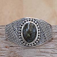 Labradorite cuff bracelet,