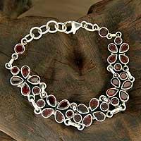 Garnet floral bracelet,