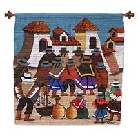 Wool tapestry Wedding Dance Peru