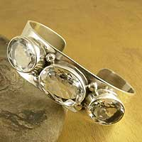Quartz cuff bracelet, Crystalline Purity