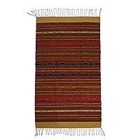Zapotec wool rug Harmony 2.5x5 Mexico