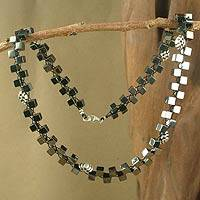 Hematite beaded necklace,