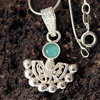 Opal pendant necklace, 'Inca Iridescence' (Peru)