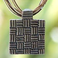 Ceramic pendant necklace,