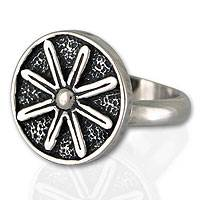 Sterling silver cocktail ring, 'Lucky Flower' - Sterling silver cocktail ring