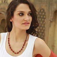 Agate Shambhala-style necklace,