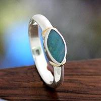 Opal cocktail ring, 'Indonesian Sea' - Opal cocktail ring