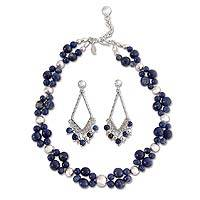 Sodalite jewelry set,