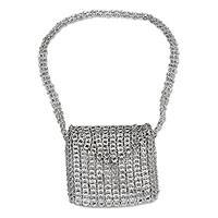 Soda pop-top shoulder bag, 'Dazzling Trend' - Soda pop-top shoulder bag