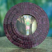 Glass mosaic photo frame,