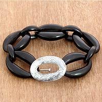 Ebony link bracelet,