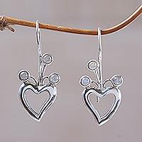 Moonstone drop earrings,