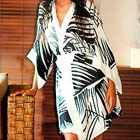 Silk robe,