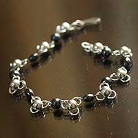 Amatite opal link bracelet,