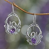 Amethyst dangle earrings,