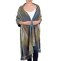 Bamboo fiber shawl,